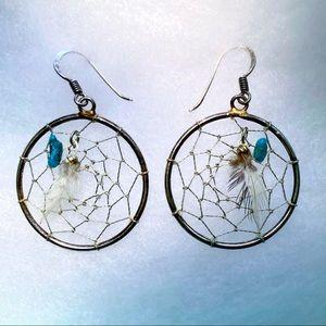 Sterling Dream Catcher earrings